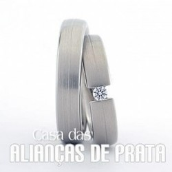 ALIANÇA DE PRATA 4.5MM