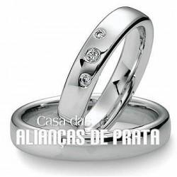 ALIANCA DE COMPROMISSO 5MM EM PRATA 950